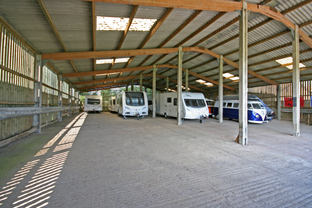 Sheltered Caravan Storage Exeter